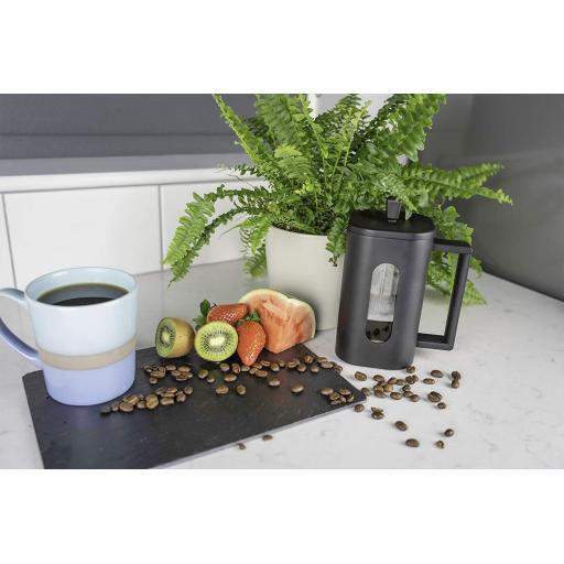 Grunwerg Cafe` Ole`Coffee Cafetiere French Press 600ml Black BVP-06F